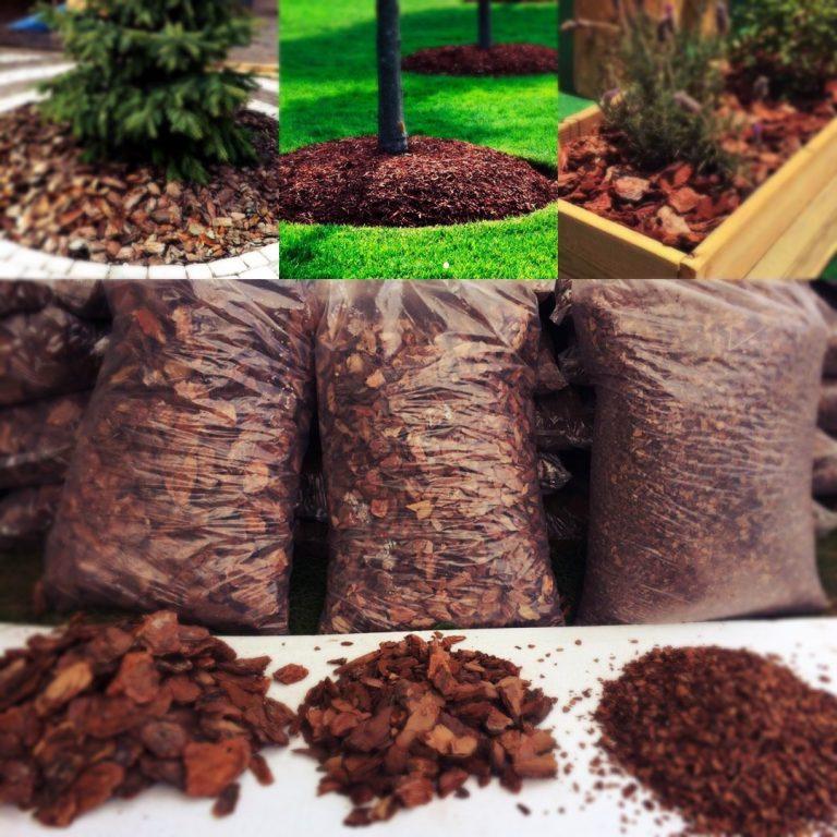 Кора деревьев (щепа, мульча, кора для ландшафтного дизайна)